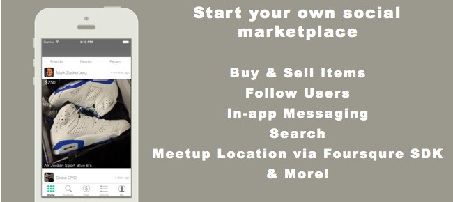Start your own social network w/ marketplace functionality