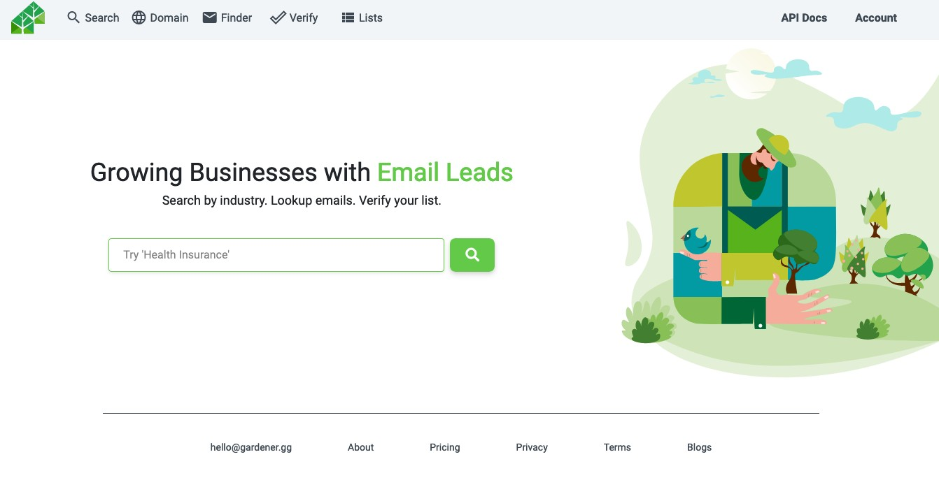 Email Gardener - Find anyone's business email in seconds