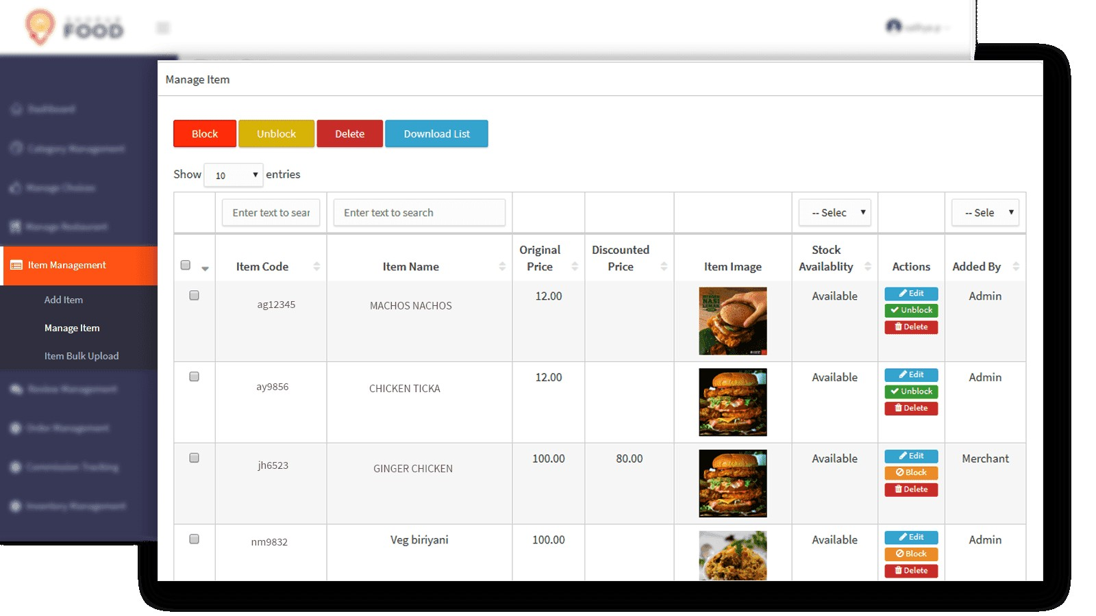 ShopUrFood - A Trusted Online Food Ordering Software