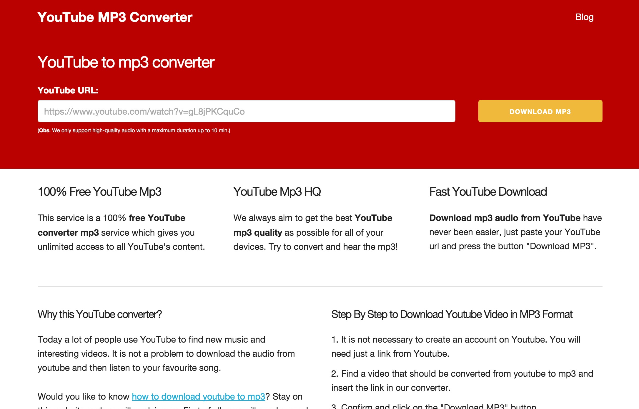 Youtube MP3 Converter - An easy way to grab mp3 files from