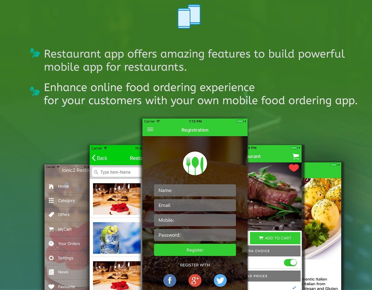 Ionic Firebase Restaurant Mobile App - Ionic Firebase