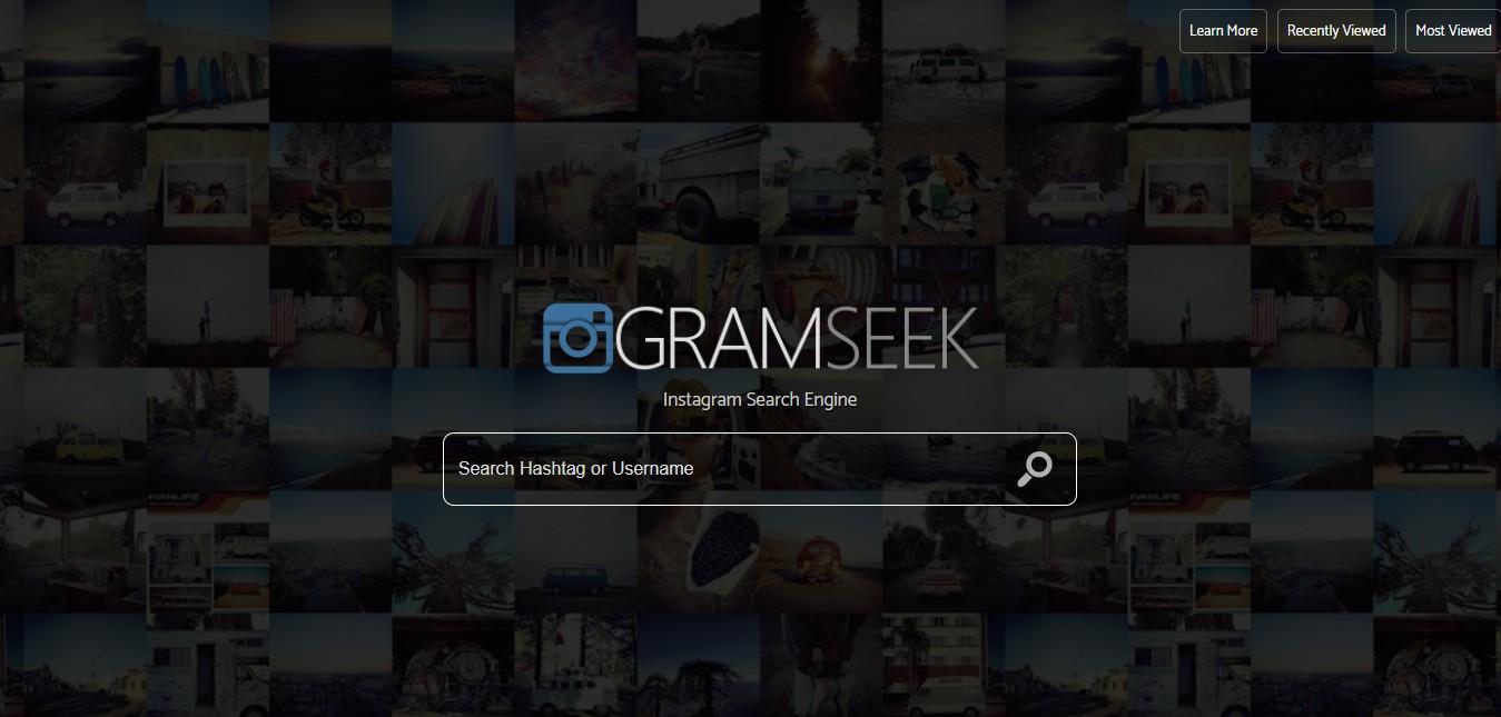 GramSeek com - Instagram Search Engine - SideProjectors