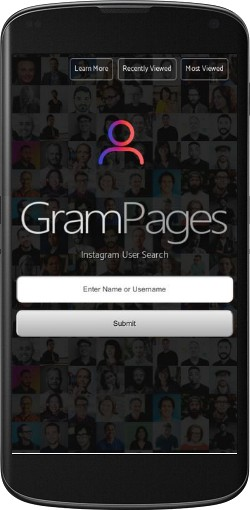 GramPages com - Instagram User Search Engine