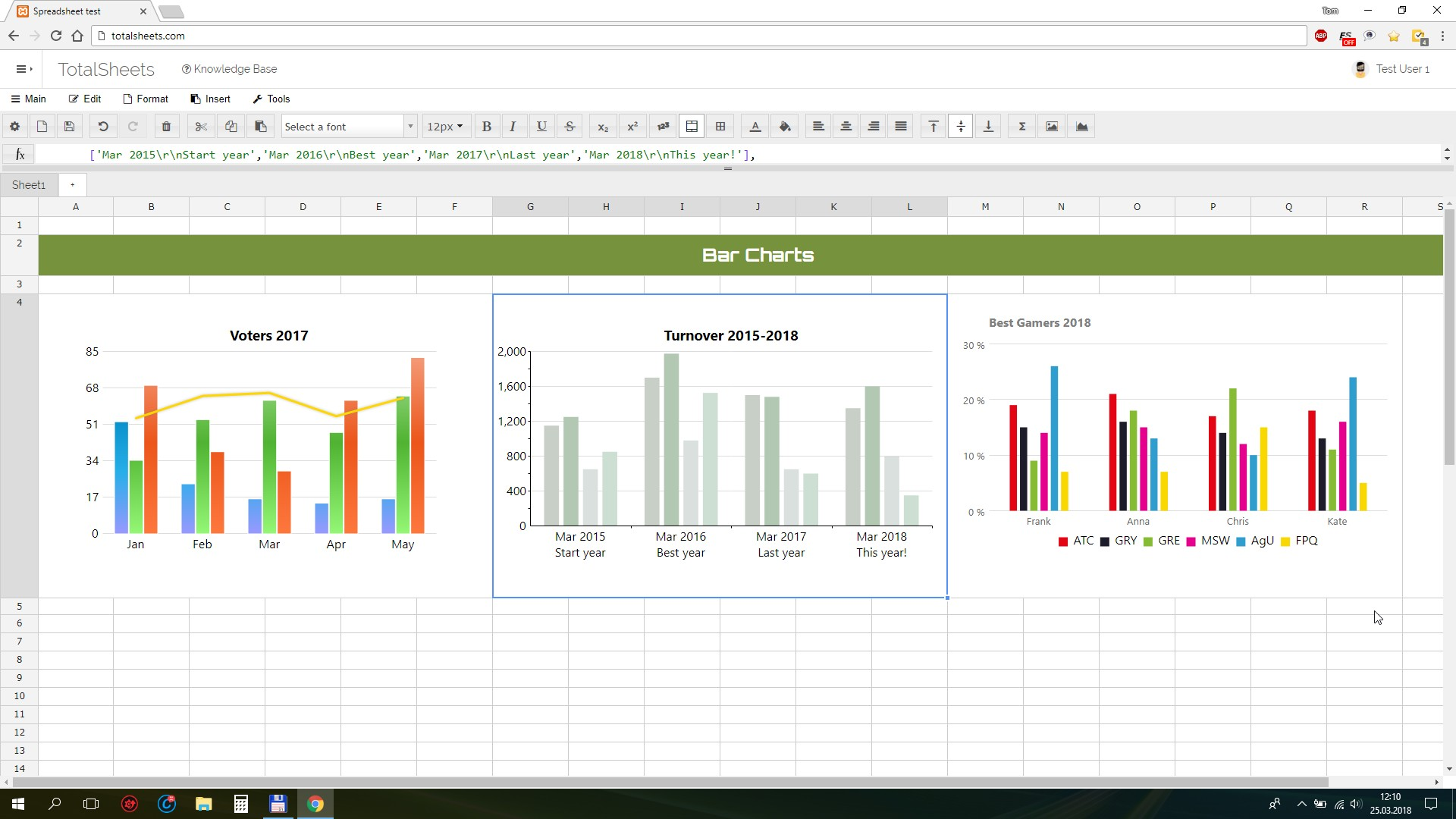 TotalSheets - Online spreadsheets with customizable